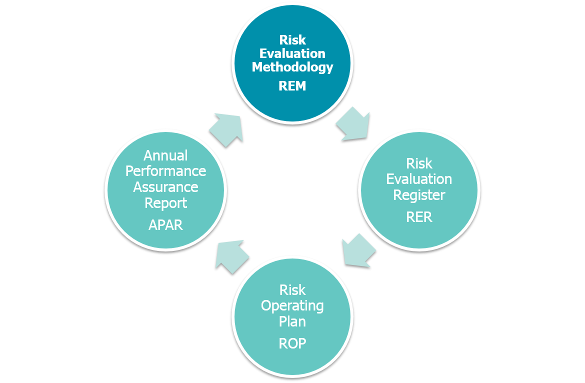 The Risk Operating Plan cycle - full details are listed below
