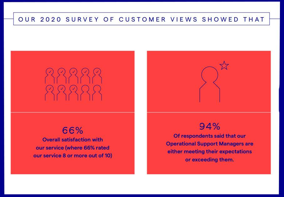 Infographic regarding 2020 customer survey (full details below image)